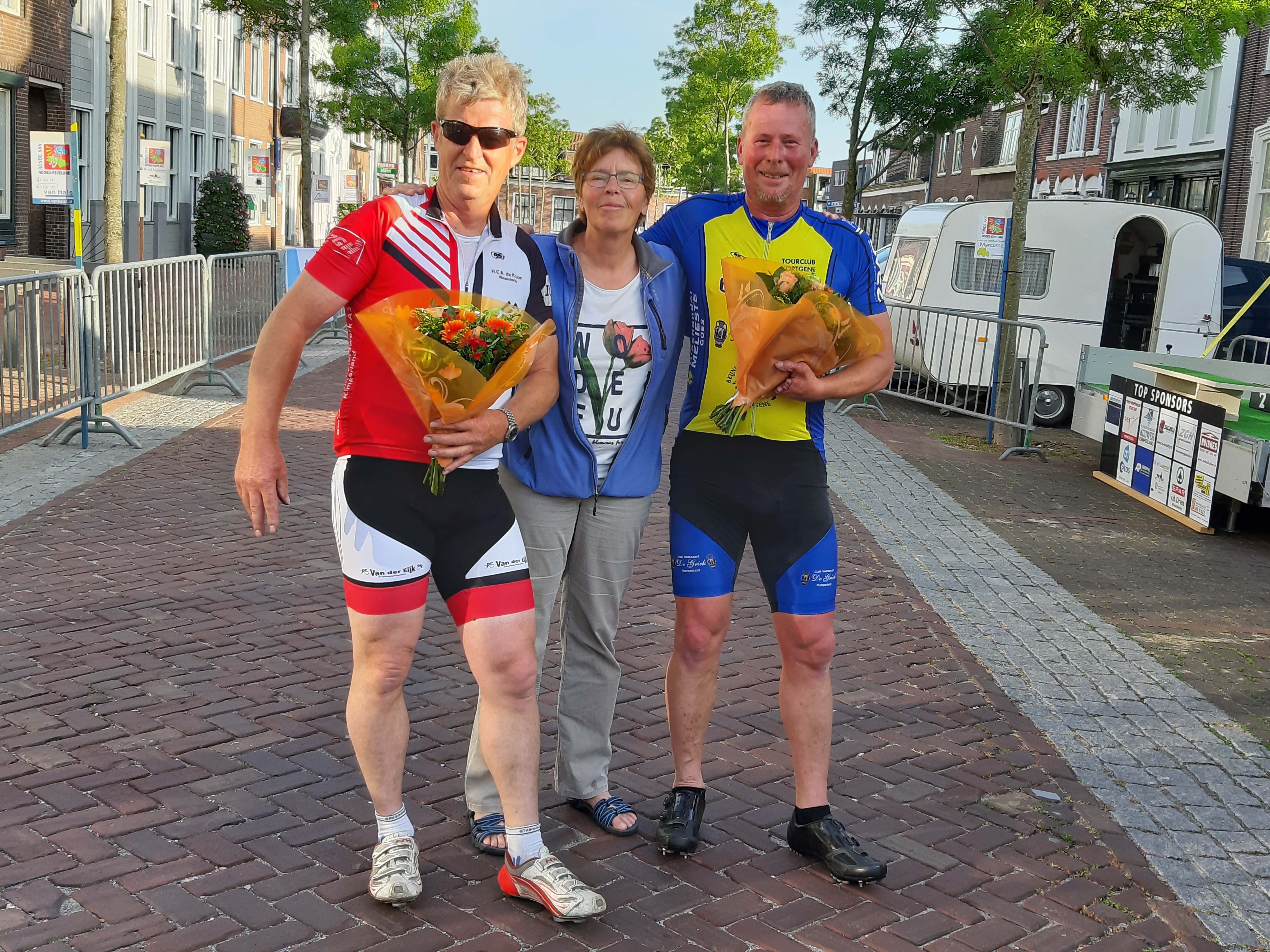 Bram en Peter de winnaars van de Koppeltijdrit