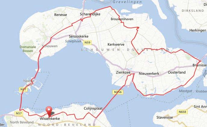 Rondje Schouwen 94 km