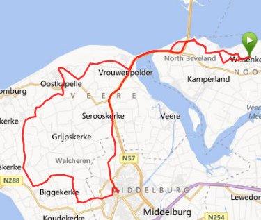zaterdag 02-11-13  62 km