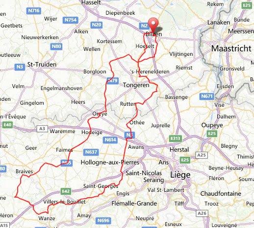 parcours 137 km 25 mei 2013