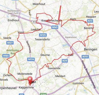 vrijdag 13-09-13 78 km