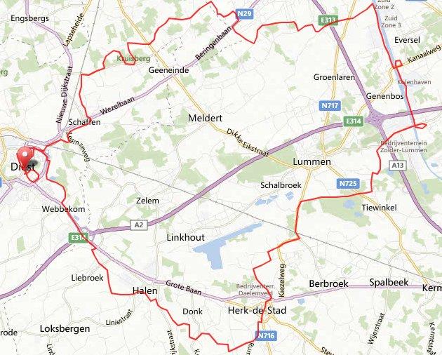 Maandag 16-09-13 58 km