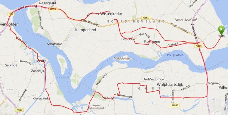 Donderdagavond 31-07-14    51km 29,2 gem