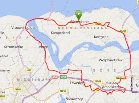 Donderdagavondrit 03-07-2014  60 km 30,5 gem.