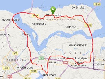 Donderdagavondrit 05-06-2014  59 km 30,1 gem