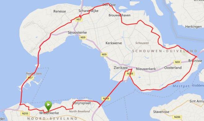 Zondag 01-06 Rondje Schouwen 89,3 km 30,3 gem