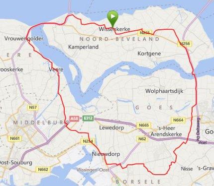 Donderdagavondrit 62 km 31,1 gem.