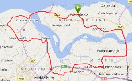 Donderdagavond 22 mei 64 km 30,5 gemiddeld