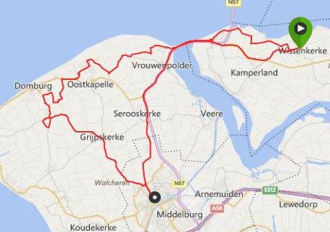 zaterdag 15-11-2014 58 km 27,1 gem