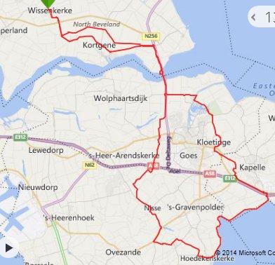 zondag 02-11-2014  67 km 29,2 gem