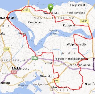 zondag 20-04-14 rondje van ruim 74 km