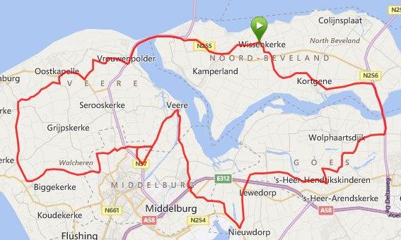 zondag 25 mei 86 km en 29,2 gemiddeld