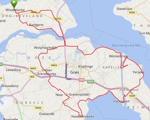 rondje zuid-beveland 92 km en 29,4 gem.