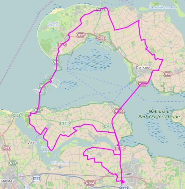 120 km route