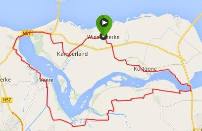 Rondje Veerse Meer 51 km 30 gemiddeld