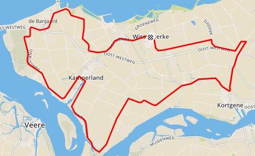 Donderdagavond 17-09-2015 Tijdritrondje 35,5 km in 34,4 gem.