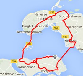 Donderdagavondrit 16-07-2015 rondje 72 km 32,8 gem