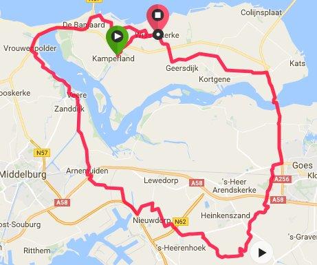 Donderdagavondrit 28-07-2016     64 km 30,7 gem.