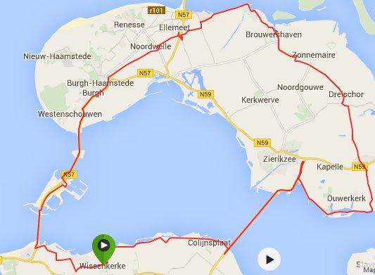 zondag 07-06-15 rondje Schouwen 79 km 30,3 gem