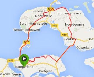 Rondje Schouwen 70 km gem 32,1 km/u