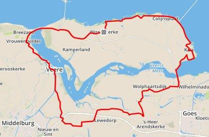 Donderdagavond 20-08-15 63 km en 31,6 gem