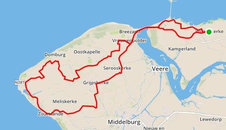 Donderdagavondrit 06-08-2015 65 km 31 gem