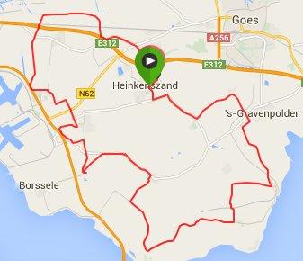 Toertocht Cyclemotion 53 km 29,7 gemiddeld