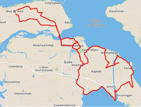zondagmorgenrit 09-08-2015  91 km 30,1 gem