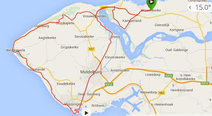 Rondje Walcheren 79 km 29,2 gem