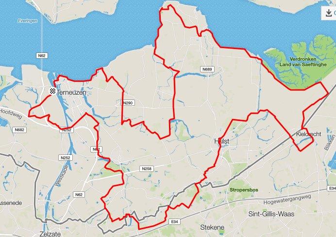Clubrit Oost Zeeuws Vlaanderen 129 km 27 gem