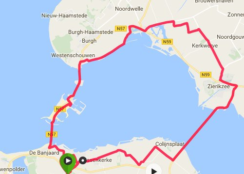 Donderdagavond 01-09-2016 59km 31,5 gem.