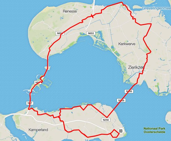 Donderdagavond 12-05-2016 rondje 68 km 32,1 gem.