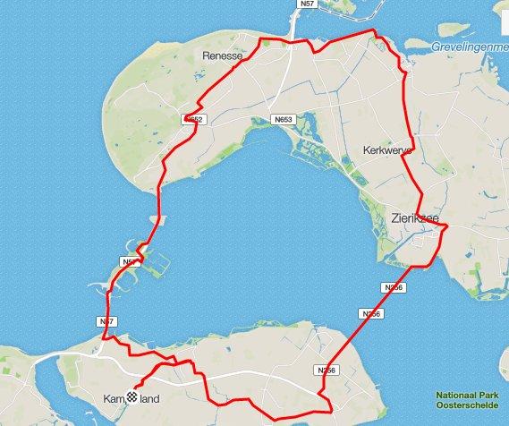 Donderdag 26-05-16 rondje ruim 70 km 31,4 gem.