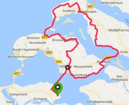 Giro di Schouwen 100km 29,5 gem.