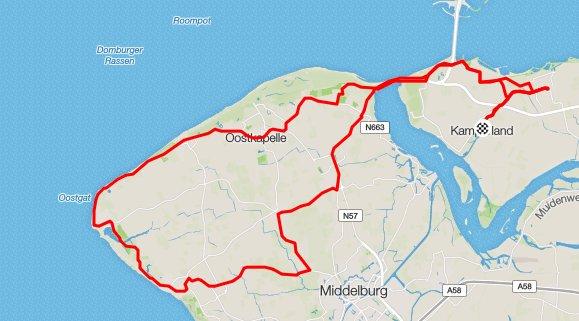 Afsluitingsrit van het seizoen. 64 km  28,6 gem