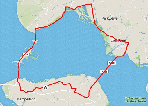 Donderdag 21-04-2016 59 km 31,1 gem.