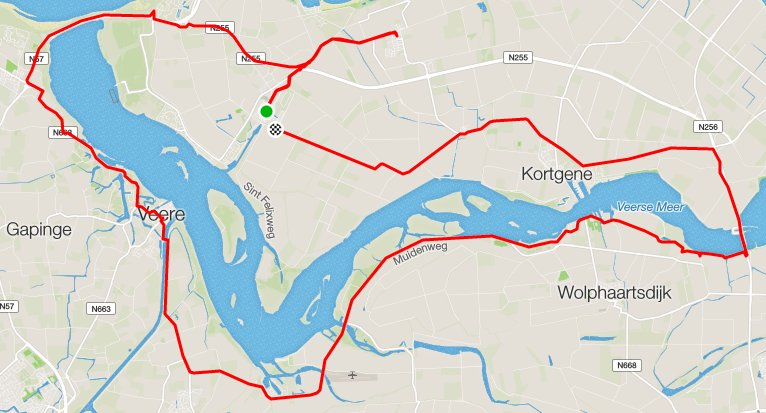 zondag 12-06-2016 51 km 31,6 gem