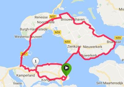 zondag 14-08-2016 Rondje Schouwen 92 km 31,6 gem.
