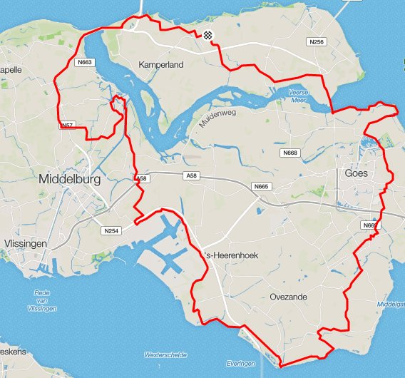 zondag 17-07-16 101 km 30,5 gem