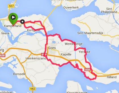 zondag 24-07-2016 92 km 29,8 gem.
