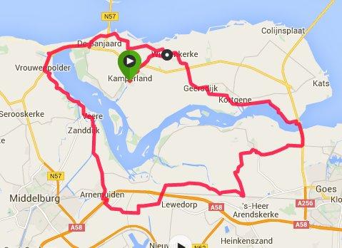 Rondje 55 km 31,3 gem