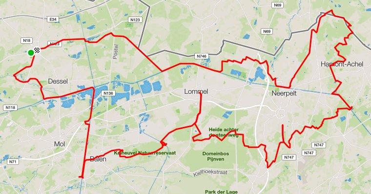 Limburgse Noorder Kempenroute zaterdag 10-09-2016