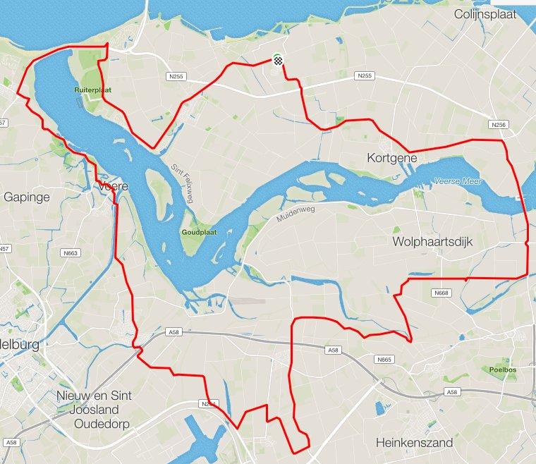 Donderdag 08-06-2017 65 km 32,6 gem.