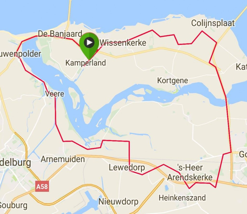 Donderdag 10-08-2017 64 km 31,5 gem