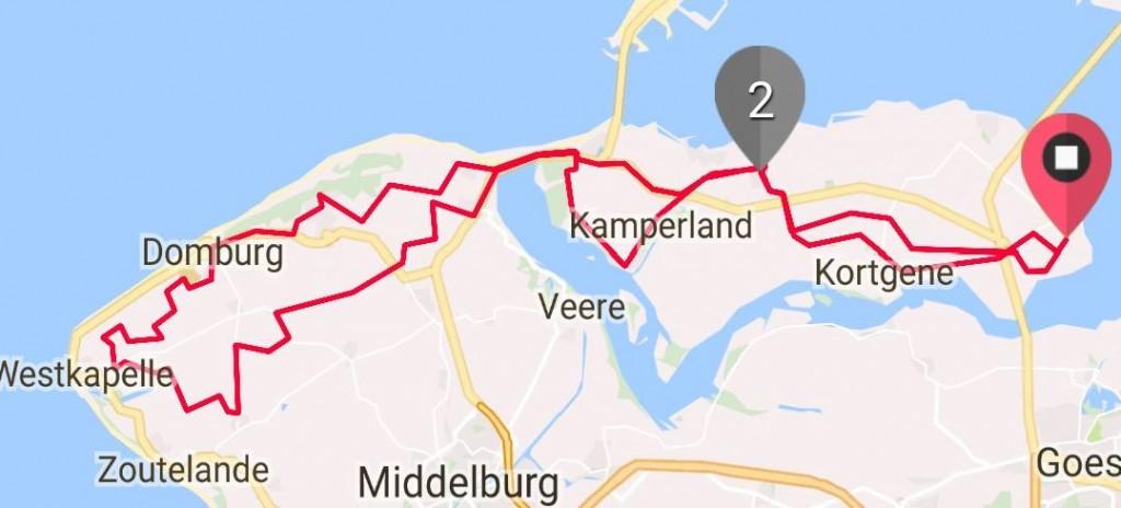 Donderdag 24-08-2017 65 km 31.6 gem