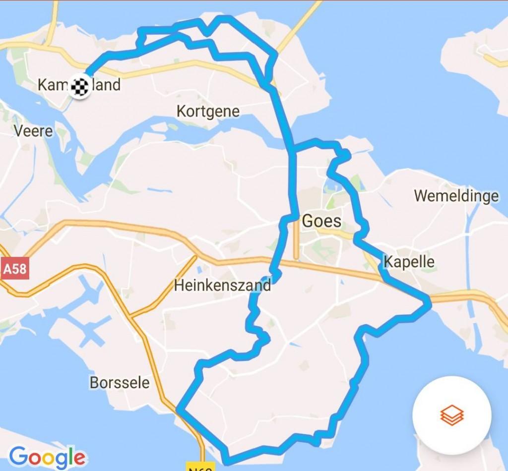 Zondag 30-04-2017 88km 31,5 gem.