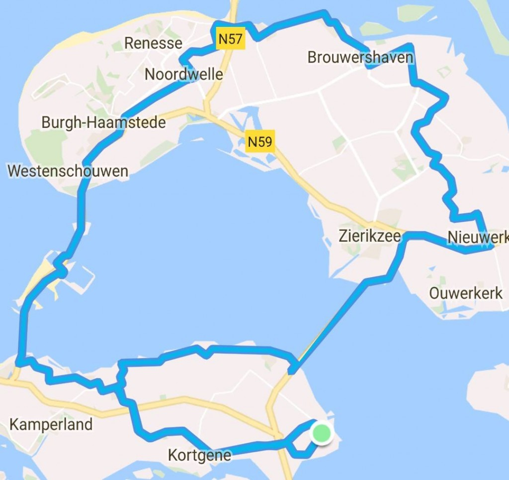 Rondje Schouwen 79 km 27,7 gem.