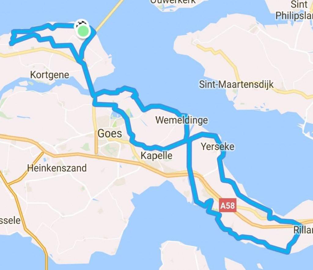 Rondje richting Rilland 97 km 31,6 gem.