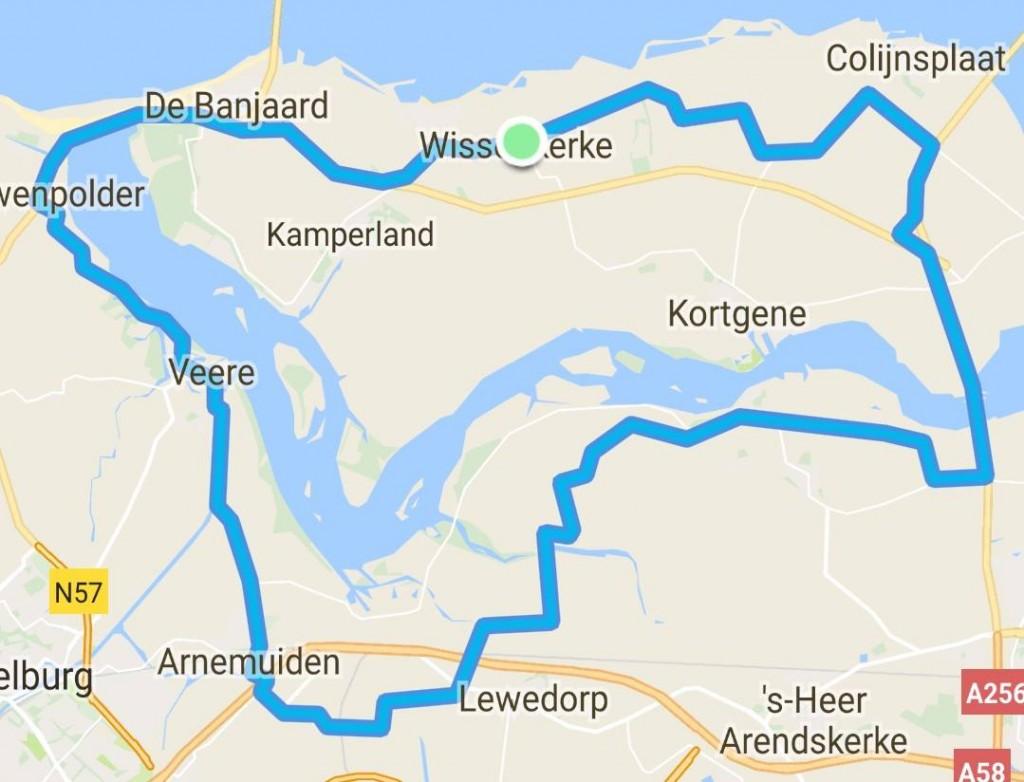 donderdag 17-08-2017 57 km 32,2 gem.