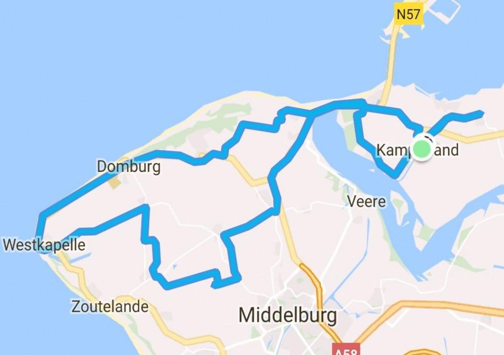 Donderdag 22-06-2017 67 km 30,6 gem.